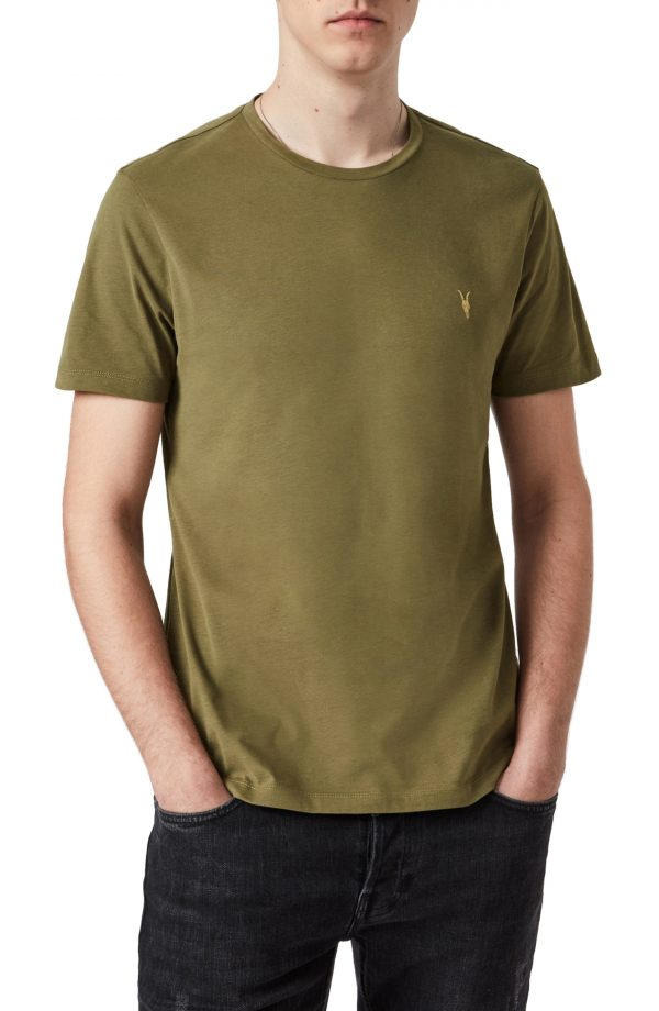 Men's Allsaints Brace Contrast Crewneck T-Shirt, Size Small - Green