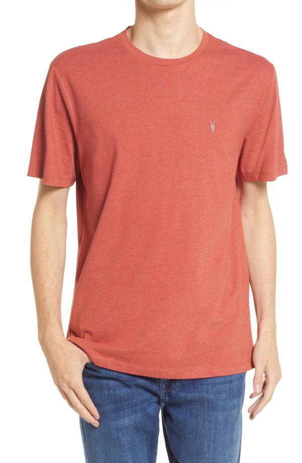Men's Allsaints Brace Crewneck T-Shirt, Size Small - Red