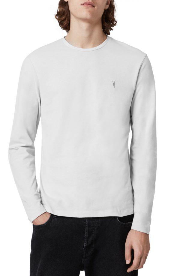 Men's Allsaints Brace Long Sleeve Crewneck T-Shirt, Size X-Small - Grey