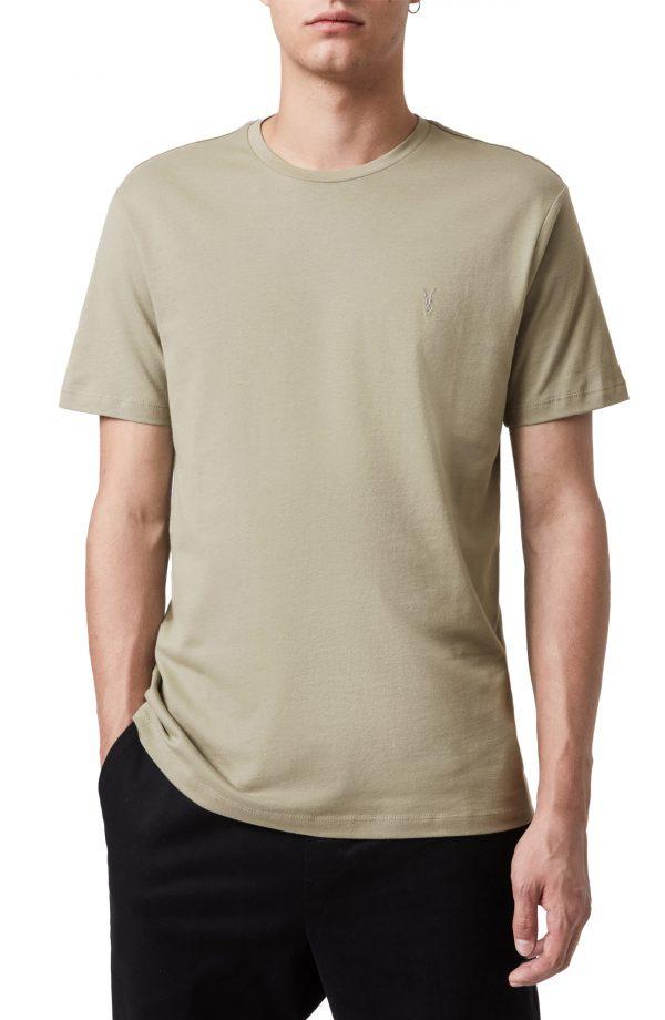 Men's Allsaints Brace Tonic Assorted 3-Pack Cotton T-Shirt, Size X-Small - Green
