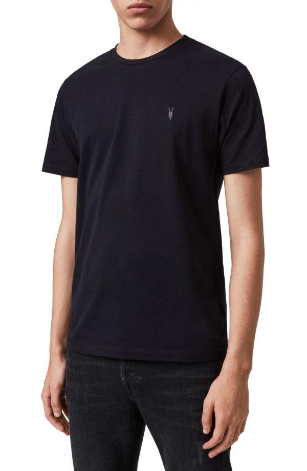 Men's Allsaints Brace Tonic Slim Fit Crewneck T-Shirt, Size Large - Blue