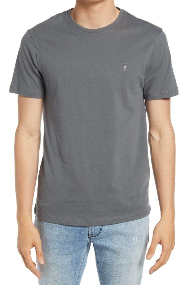 Men's Allsaints Brace Tonic Slim Fit Crewneck T-Shirt, Size Large - Green