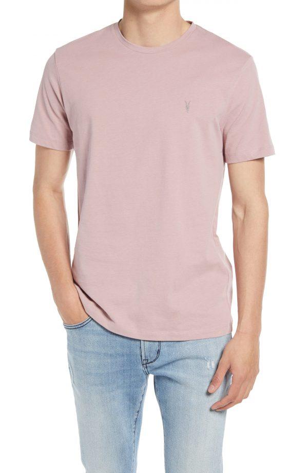 Men's Allsaints Brace Tonic Slim Fit Crewneck T-Shirt, Size Large - Pink