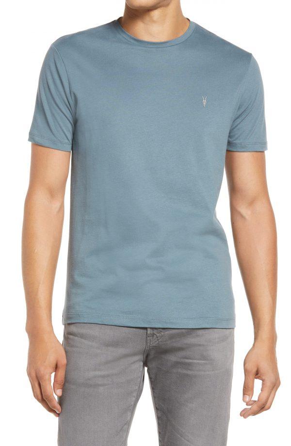Men's Allsaints Brace Tonic Slim Fit Crewneck T-Shirt, Size Medium - Blue