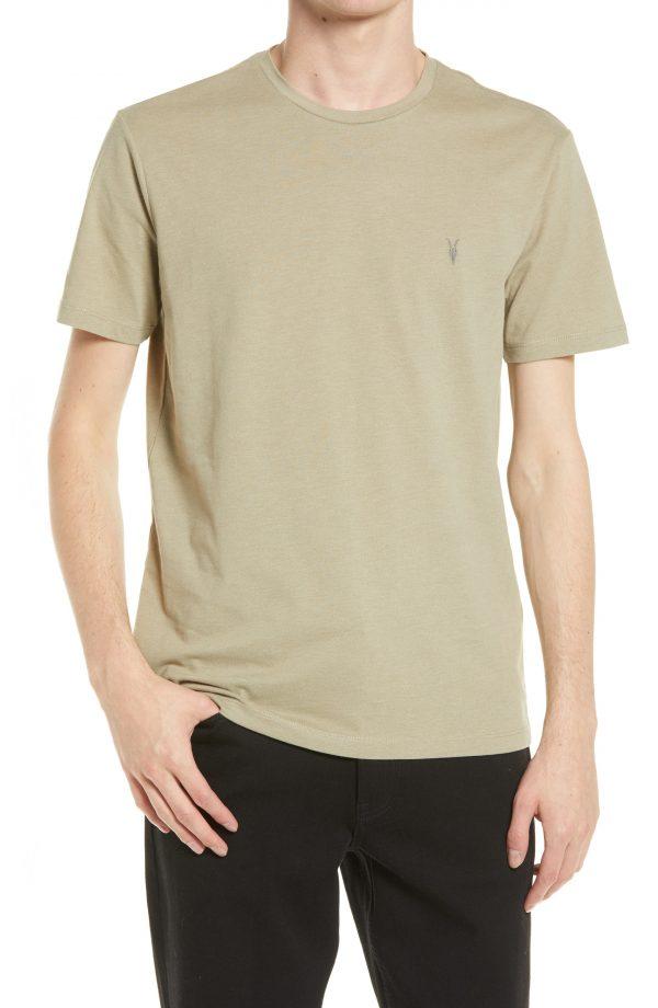 Men's Allsaints Brace Tonic Slim Fit Crewneck T-Shirt, Size Medium - Green