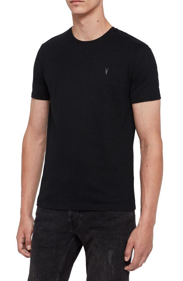 Men's Allsaints Brace Tonic Slim Fit Crewneck T-Shirt, Size Small - Black