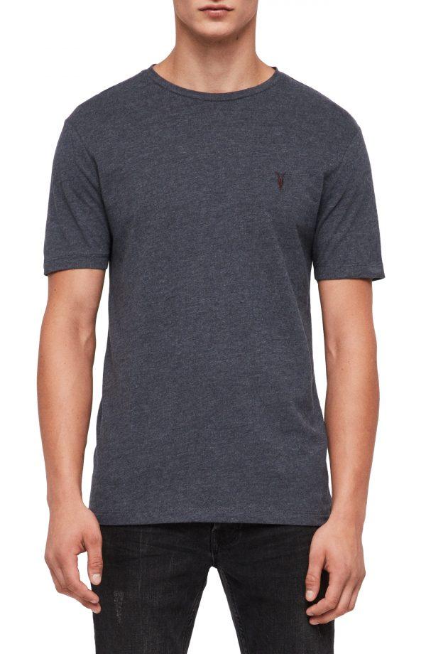 Men's Allsaints Brace Tonic Slim Fit Crewneck T-Shirt, Size Small - Blue