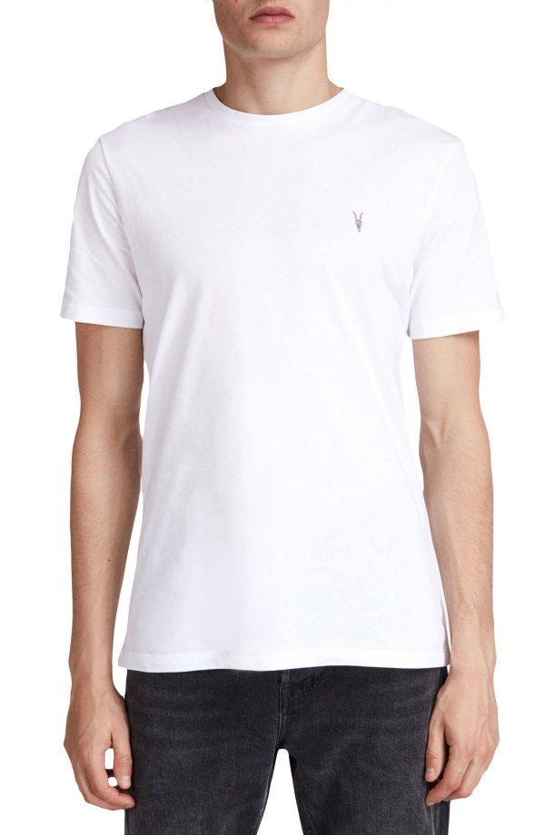 Men's Allsaints Brace Tonic Slim Fit Crewneck T-Shirt, Size Small - White