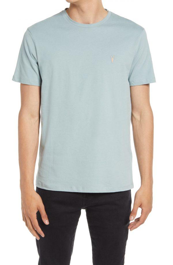 Men's Allsaints Brace Tonic Slim Fit Crewneck T-Shirt, Size X-Large - Blue