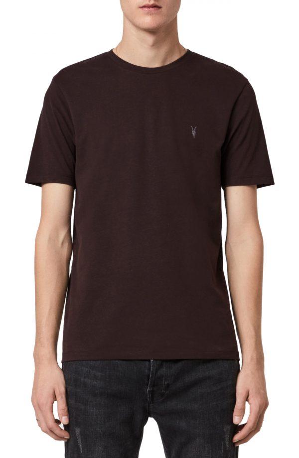 Men's Allsaints Brace Tonic Slim Fit Crewneck T-Shirt, Size XX-Large - Brown
