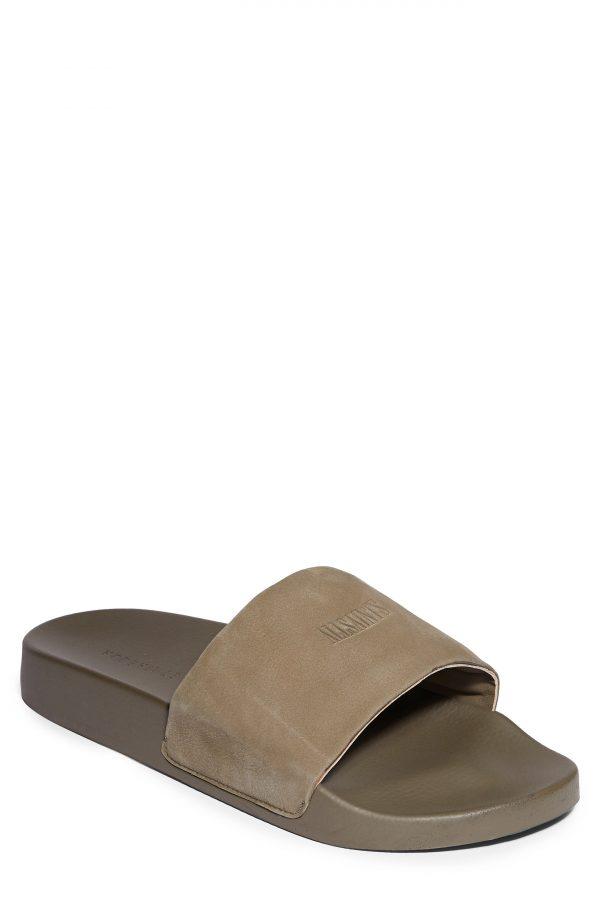 Men's Allsaints Carmel Slide Sandal, Size 11 M - Brown