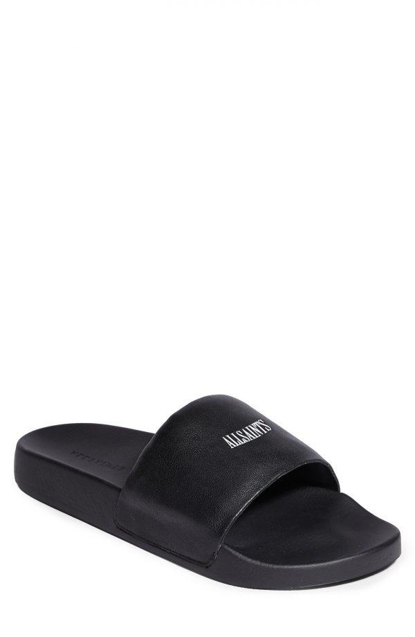 Men's Allsaints Carmel Slide Sandal, Size 7 M - Black