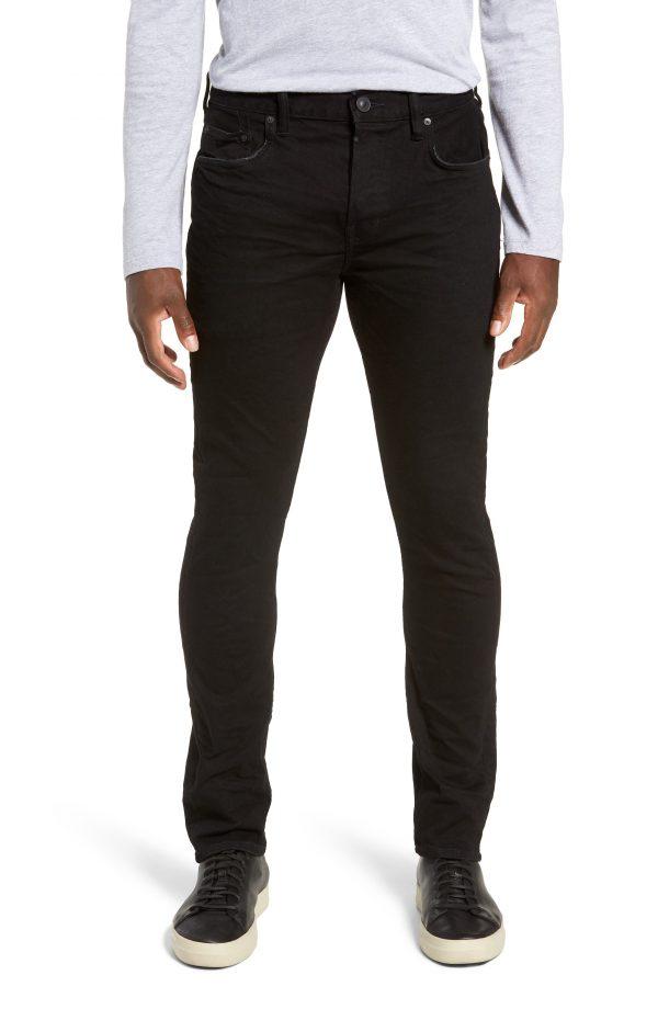 Men's Allsaints Cigarette Skinny Fit Jeans, Size 28 - Black