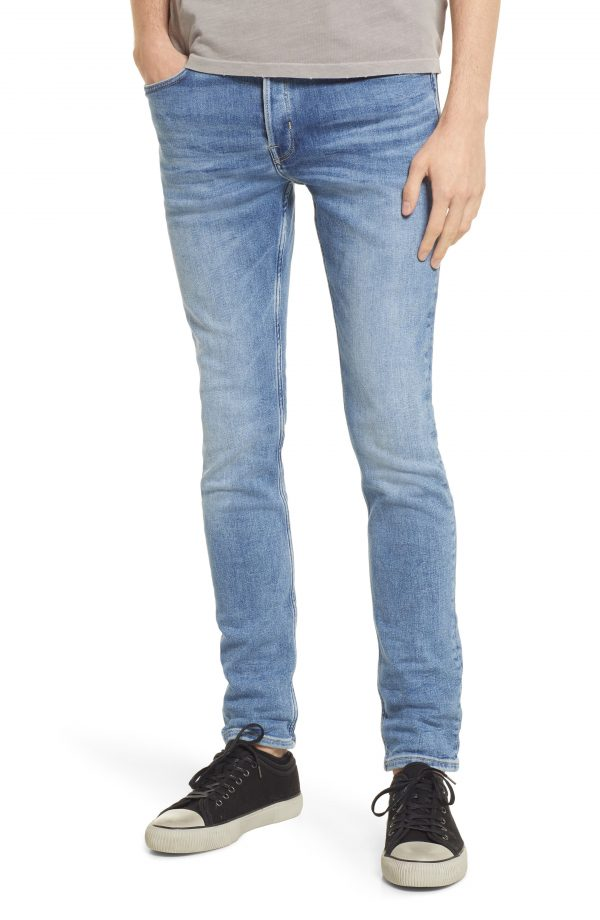 Men's Allsaints Cigarette Skinny Fit Jeans, Size 30 x 32 - Blue