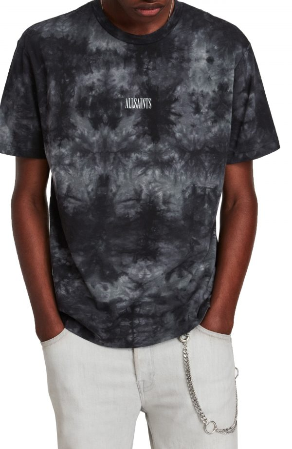 Men's Allsaints Clay Men's Tie Dye T-Shirt, Size Small - Grey