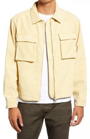 Men's Allsaints Clifton Corduroy Jacket, Size Medium - Yellow