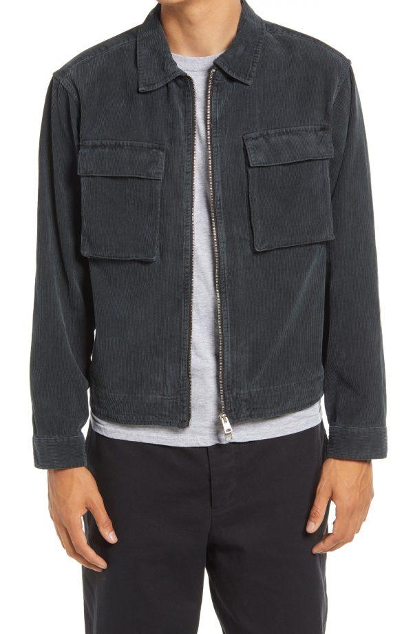 Men's Allsaints Clifton Corduroy Jacket, Size Small - Black