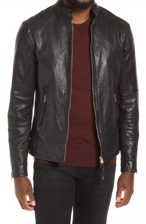 Men's Allsaints Cora Leather Jacket, Size Small - Black