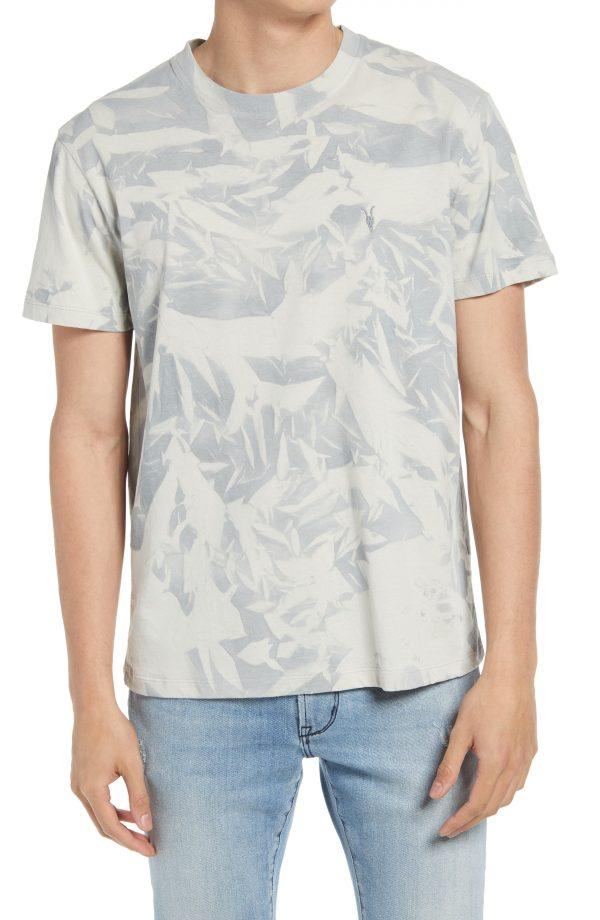 Men's Allsaints Cortez Tie Dye T-Shirt, Size Small - Grey