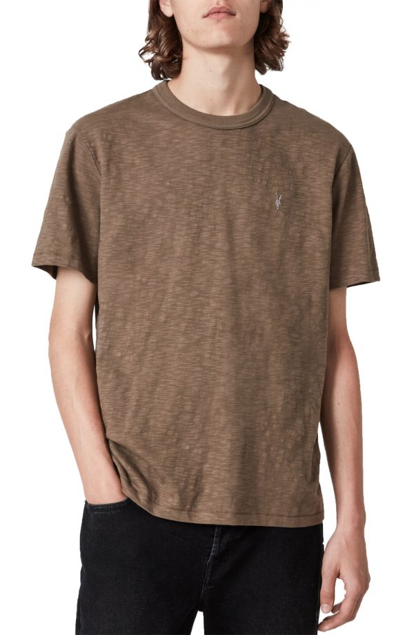 Men's Allsaints Dexter Short Sleeve Cotton T-Shirt, Size Small - Brown