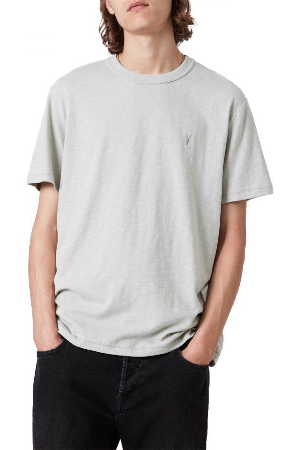 Men's Allsaints Dexter Short Sleeve Cotton T-Shirt, Size Small - Grey