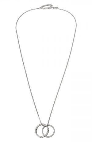 Men's Allsaints Double Ring Pendant Necklace