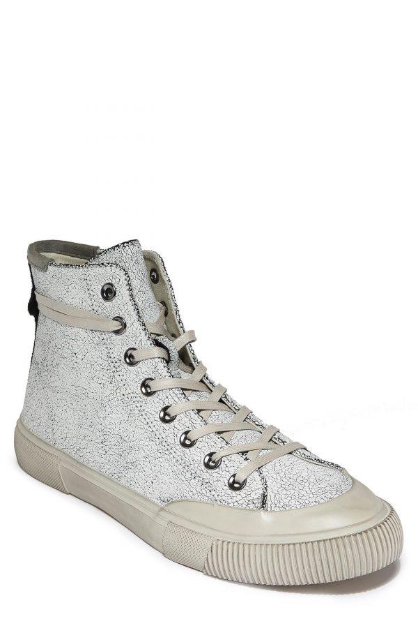 Men's Allsaints Dumount High Top Sneaker, Size 10 M - White