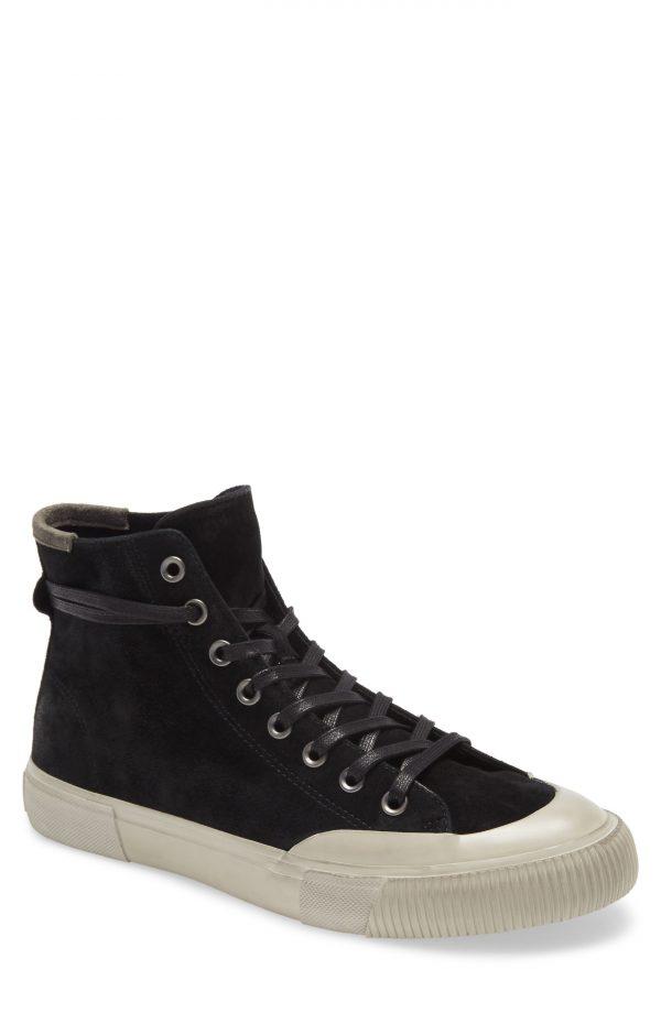 Men's Allsaints Dumount High Top Sneaker, Size 7 M - Black