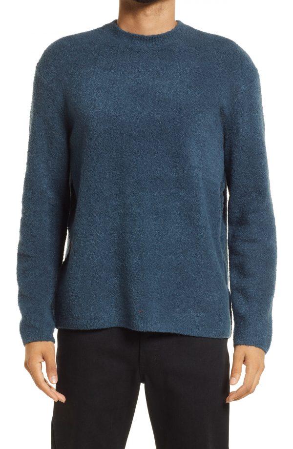 Men's Allsaints Eamont Cotton Blend Crewneck Sweater, Size Small - Blue