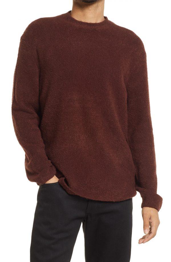 Men's Allsaints Eamont Cotton Blend Crewneck Sweater, Size Small - Red