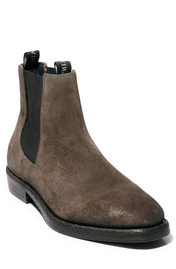 Men's Allsaints Eli Chelsea Boot, Size 10 M - Grey
