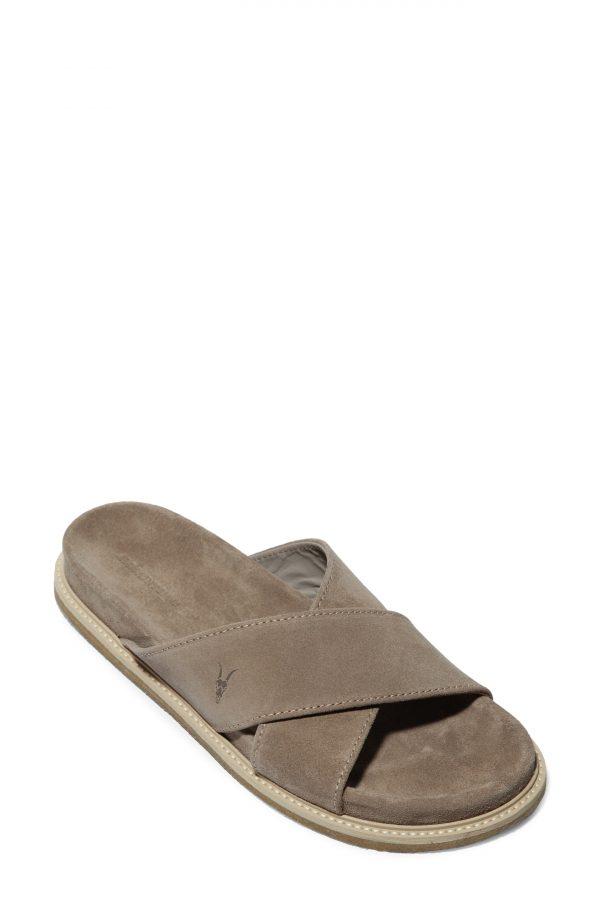 Men's Allsaints Elliot Slide Sandal, Size 12 M - Beige