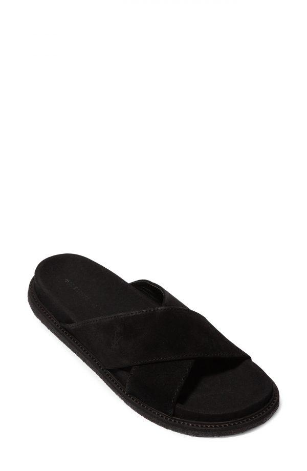 Men's Allsaints Elliot Slide Sandal, Size 8 M - Black