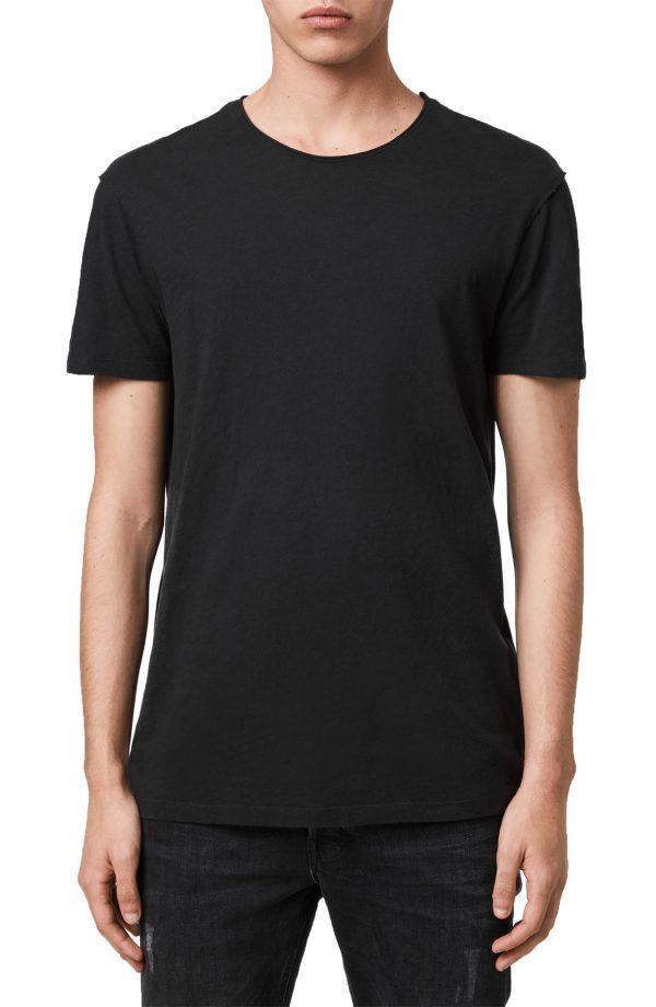 Men's Allsaints Figure 2-Pack Cotton T-Shirts, Size Medium - Black