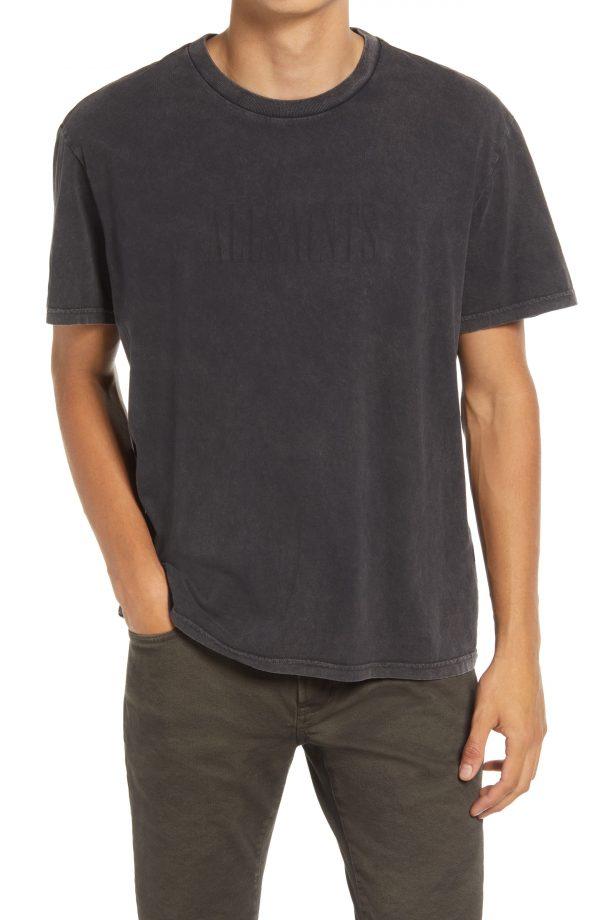 Men's Allsaints Gallo Cotton Graphic Tee, Size Small - Black