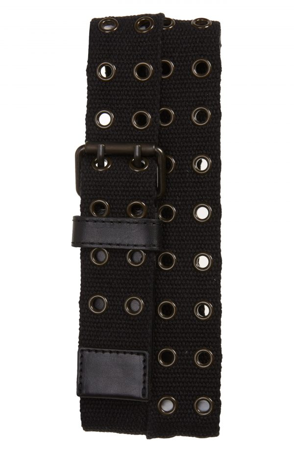Men's Allsaints Grommet Webbed Belt, Size 34 - Black