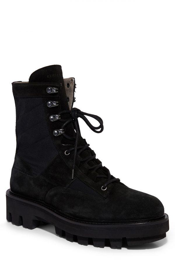 Men's Allsaints Holt Plain Toe Boot, Size 7 M - Black