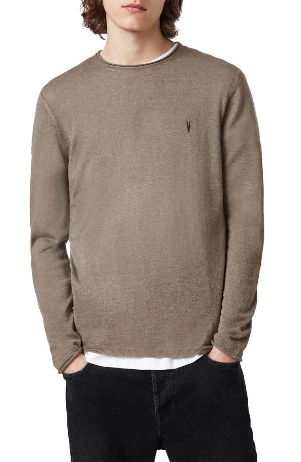 Men's Allsaints Kannet Wool Blend Sweater, Size X-Small - Brown