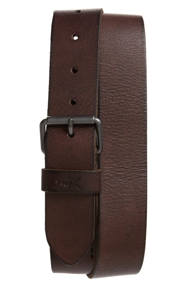Men's Allsaints Leather Belt, Size 34 - Bitter Brown