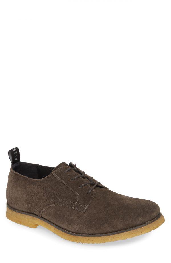 Men's Allsaints Leigh Plain Toe Derby, Size 8 M - Grey