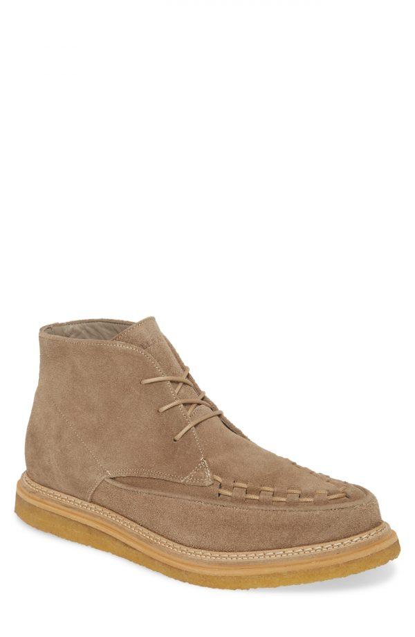 Men's Allsaints Leon Moc Toe Boot, Size 8 M - Beige