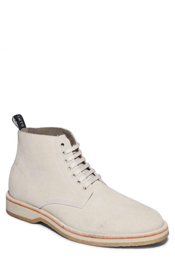 Men's Allsaints Mathis Plain Toe Boot, Size 12 M - White