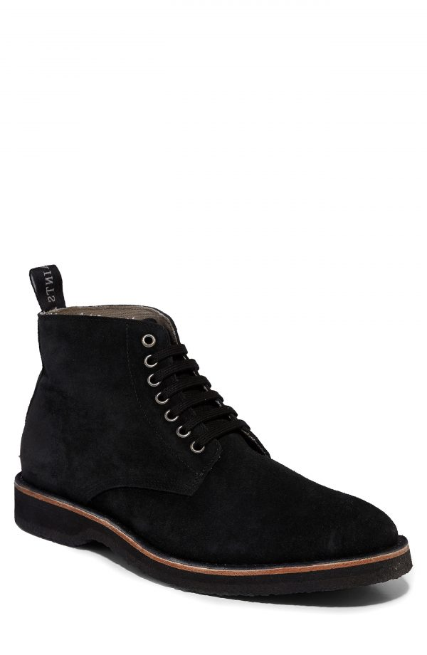 Men's Allsaints Mathis Plain Toe Boot, Size 7 M - Black