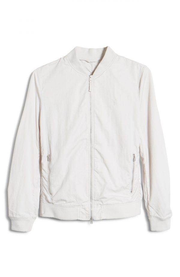 Men's Allsaints Men's Bassett Bomber Jacket, Size Small - Beige