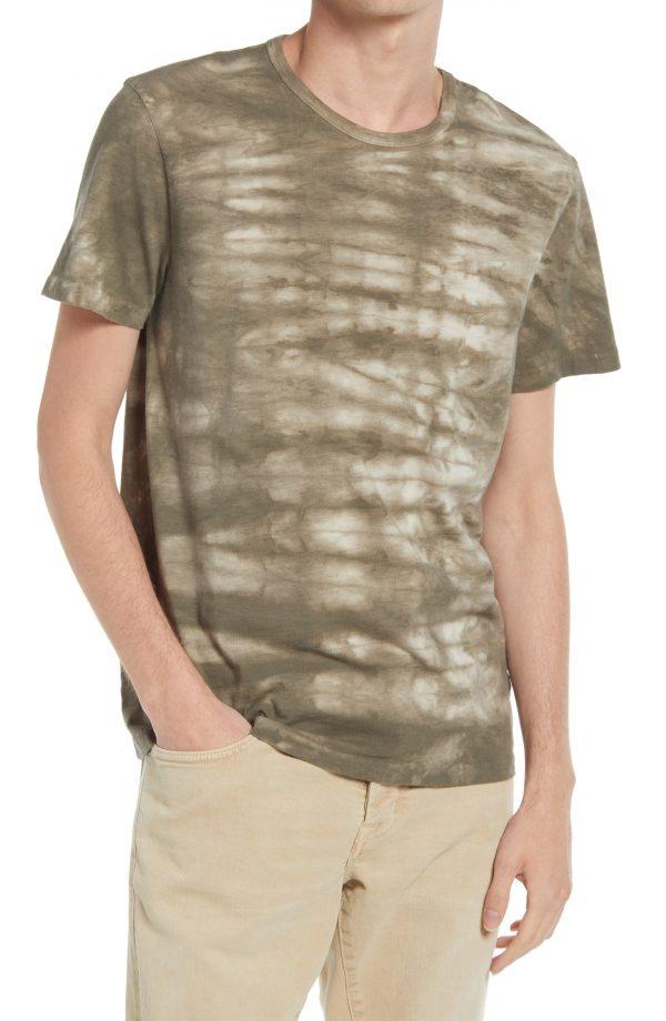 Men's Allsaints Men's Cali Tie Dye T-Shirt, Size Small - Beige