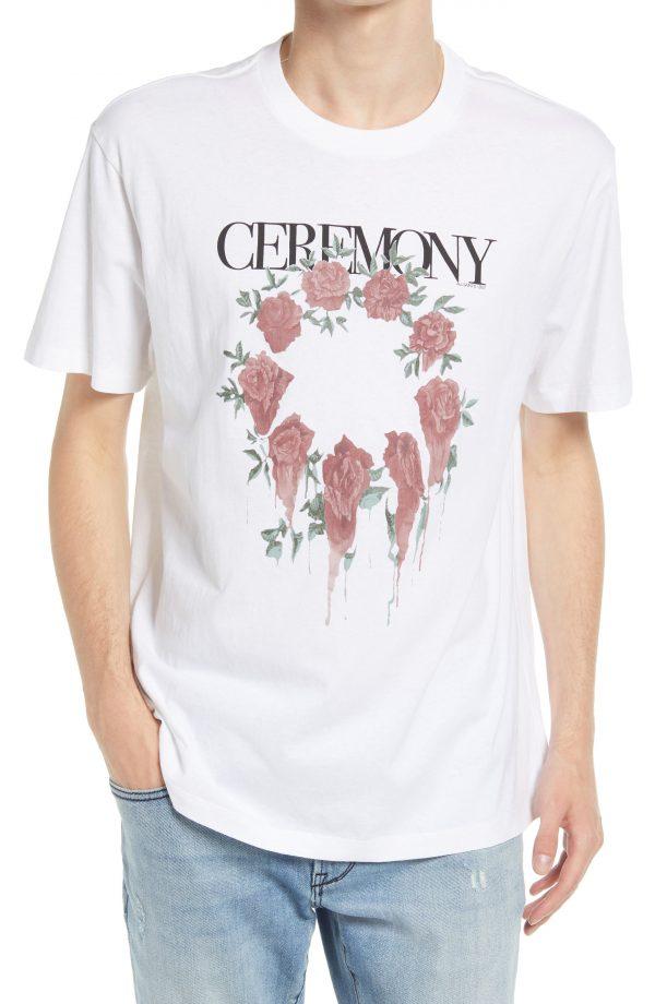 Men's Allsaints Men's Ceremony Graphic Tee, Size Medium - White