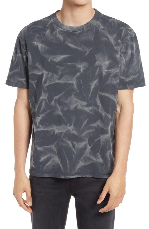 Men's Allsaints Men's Cruz Tie Dye T-Shirt, Size X-Large - Black