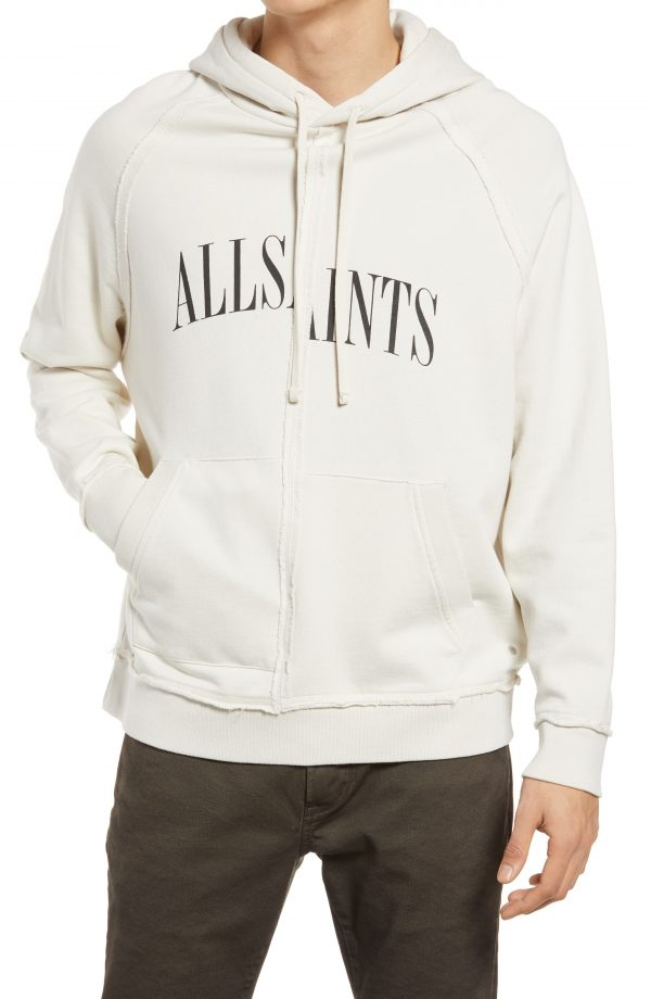 Men's Allsaints Men's Diverge Logo Hoodie, Size XX-Large - White