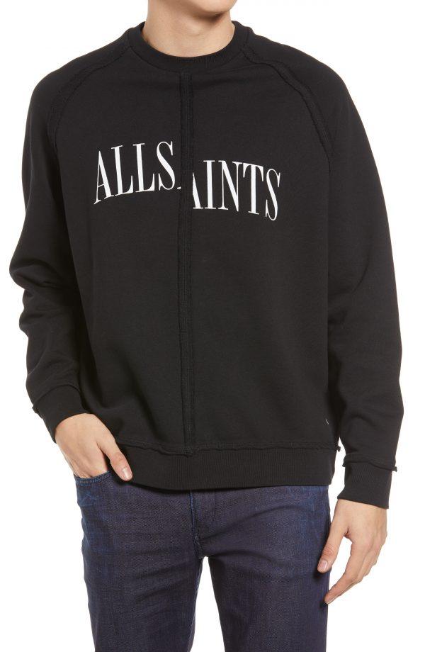 Men's Allsaints Men's Diverge Logo Sweatshirt, Size XX-Large - Black