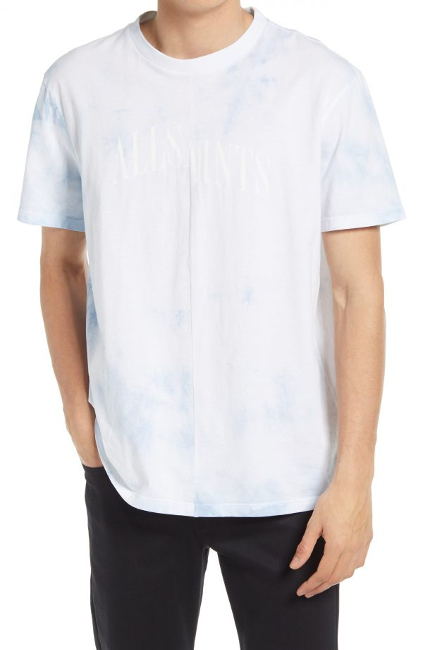 Men's Allsaints Men's Dropout Tie Dye T-Shirt, Size Medium - White